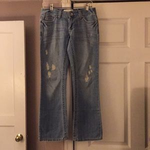 Aeropostale Chelsea Bootcut Distress Jeans Sz 3/4